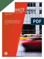 HP P4000 LeftHand SAN Solutions - Maximize Microsoft Windows Server 2008 - Hyper-V ROI