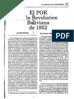 Pablo Rieznik, El POR en La Revolución Boliviana de 1952