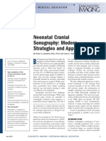 Neonatal Cranial Sonography Modern Strategies Applications