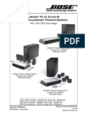 [DIAGRAM_5FD]  Bose lifestyle ps18ps28ps48 service manual   Electrostatic Discharge    Electrical Connector   Bose Lifestyle 12 Wiring Diagram      Scribd