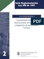 Licenciamiento Urbanístico, Reconocimiento y Legalización Asentamientos