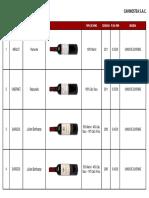 Lista de Vinos (BORDEAUX)