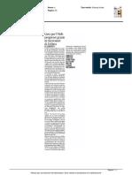 Cura dell'Aids, progressi grazie ai ricercatori di Urbino - Il Messaggero dell'11 giugno 2016