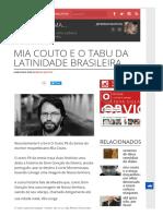 Resenha_Mia Couto e o Tabu Da Latinidade Brasileira