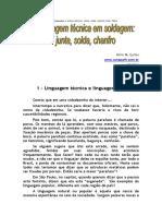 Linguagem Tecnica Solda Junta Chanfro Filete