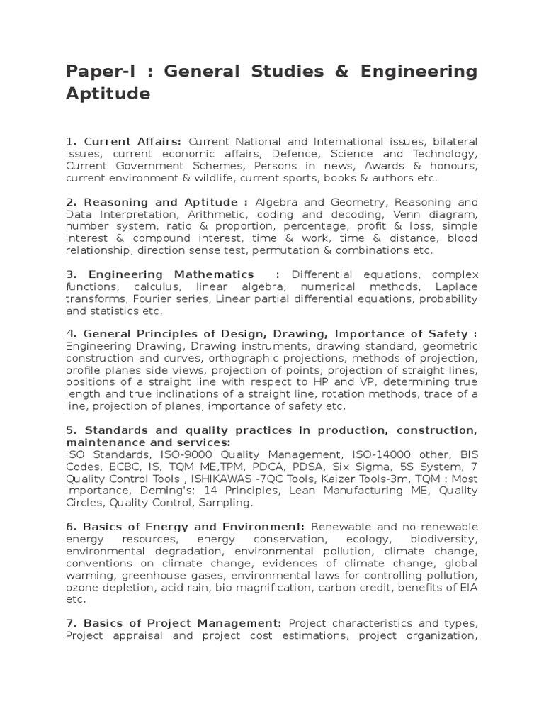 General Studies & Engineering Aptitude | Educational