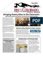 Western State College News Briefs May 2010