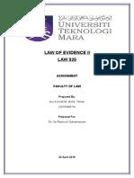 Evidence II Final Assignment