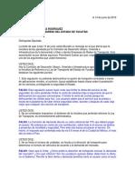Carta de Uber Al Congreso de Yucatan
