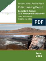 Public Hearing Report, Doris North project