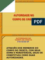 Autoridade No Corpo de Cristo