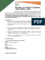 Bases i Concurso Nacional de Danzas y Estampas Gala Tusuy 2015