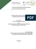A Aliança Do Pacífico, o Brasil e o Poder Global-Raphael Padula