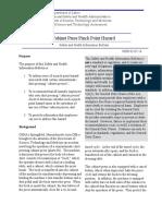 Cabinet Press Pinch Point Hazard