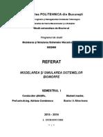 Modelarea Si Simularea Sistemelor Mobile Biomorfe