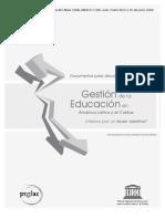 Unesco - Gestión de La Educación en América Latina y El Caribe