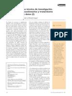 La Encuesta Como Técnica de Investigación. Elaboración de Cuestionarios y Tratamiento Estadístico de Los Da