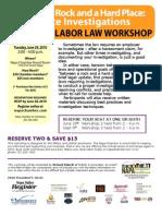 Napa Chamber Labor Law Workshop June 29, 2010