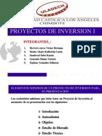 Contenidos mínimos de un Proyecto de inversión para su Presentacion