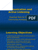 Communication and Active Listening