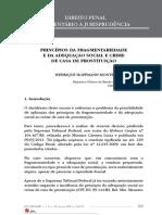 Princípios da fragmentariedade e da adequação social e crime de casa de prostituição
