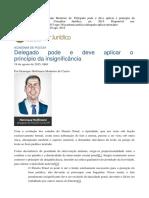 Aplicação do princípio da insignificância pelo delegado de polícia - Henrique Hoffmann