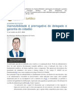 Inamovibilidade é prerrogativa do delegado e garantia do cidadão - Henrique Hoffmann