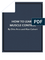 How to Learn Muscle Controll by Alan Calvert and Otto Arco