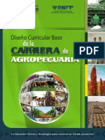 Diseño Curricular Base Agropecuaria