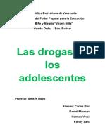 Las Drogas en Los Adolescentes