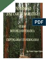Curso Botanica Sistematica