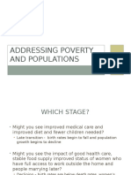 addressing poverty and populations spring