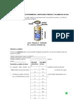 Graficando Presion y Volumen de Un Gas