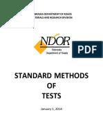 Nebraska Test Methods 2014