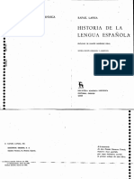 Rafael Lapesa Historia de La Lengua Espanola