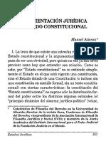Argumentacion Juridica y Estado Constitucional[1]. Manuel Atienza.