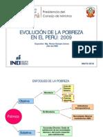 Evolución de la pobreza en el Perú