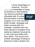 advantages of being an erasmus student