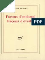 Facons d Endormi Facons d Eveille