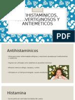 Antihistaminicos, Antivertiginosos y Antiemeticos