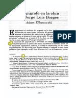 El Epígrafe en La Obra de Jorge Luis Borges