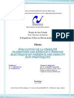 Évaluation de La Stabilité Transitoire Des Réseaux d' Énergie Électrique en Présence de Défaut Non Symétriques