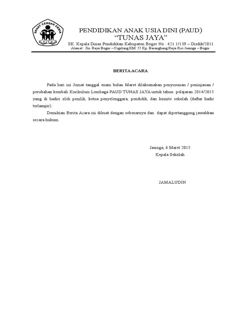 Dokumen Peninjauan Kurikulum