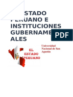El Estado Peruano e Instituciones Gubernamentales