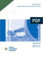 Experimental Homebuilt Aircraft Safety Study