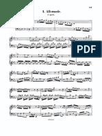 4 Allemande Cminor - J. S. Bach