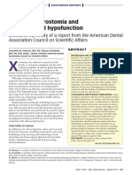 Managing Xerostomia and Salivary Gland Hypofunction