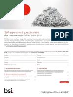 BSI ISOIEC27001 Assessment Checklist UK En