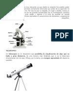 microspcopio, telescopio
