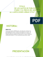 Diapositivas Incidencia de La Publicidad Urban Style
